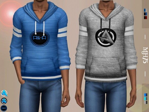 The Sims Resource: Ali-A Logo Sweaters by Margeh-75 • Sims 4