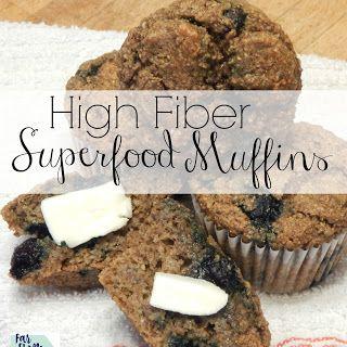 High Fiber Superfood Muffins