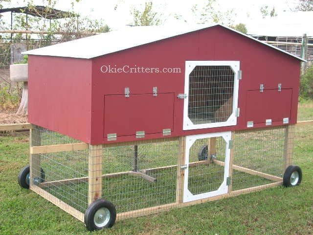 Portable chicken coops on wheels plans chicken tractor for Mobile chicken coop plans