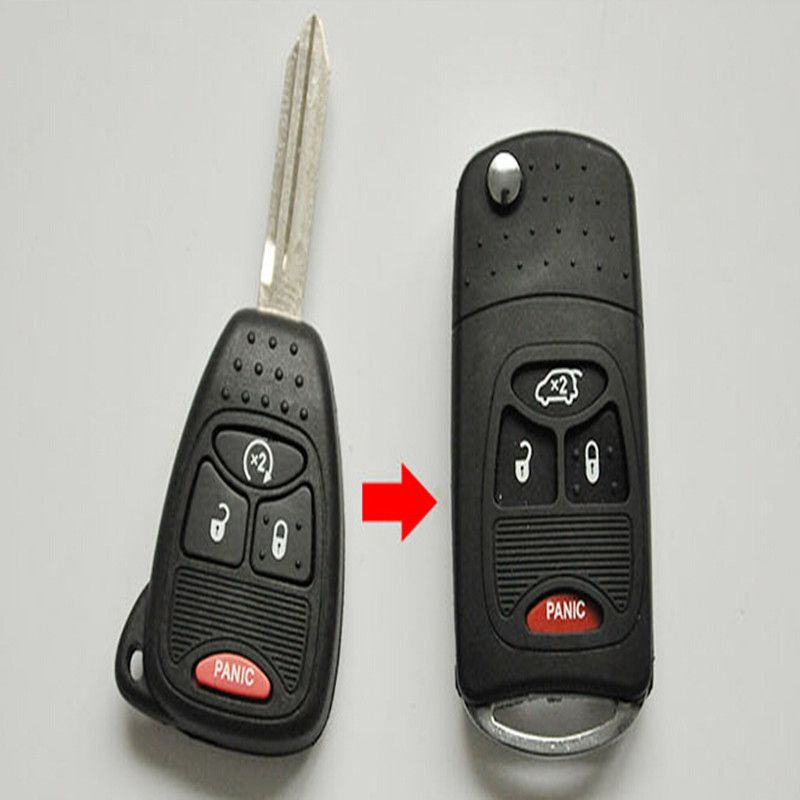 3 Buttons Folding Remote Key Fob Case Shell For Chrysler Dodge Caliber Jeep