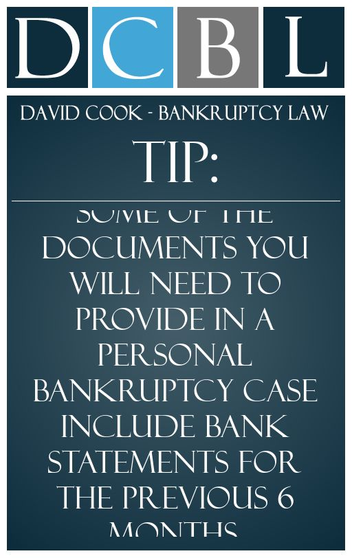 DCBL Bankruptcy Forms Tip Some Of The Documents You Will Need To Provide In A