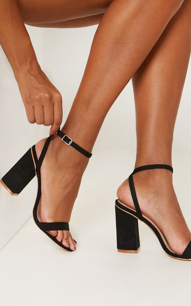 9006b580fe Black Fishnet Slingback Pointed Toe Heels | PrettyLittleThing USA