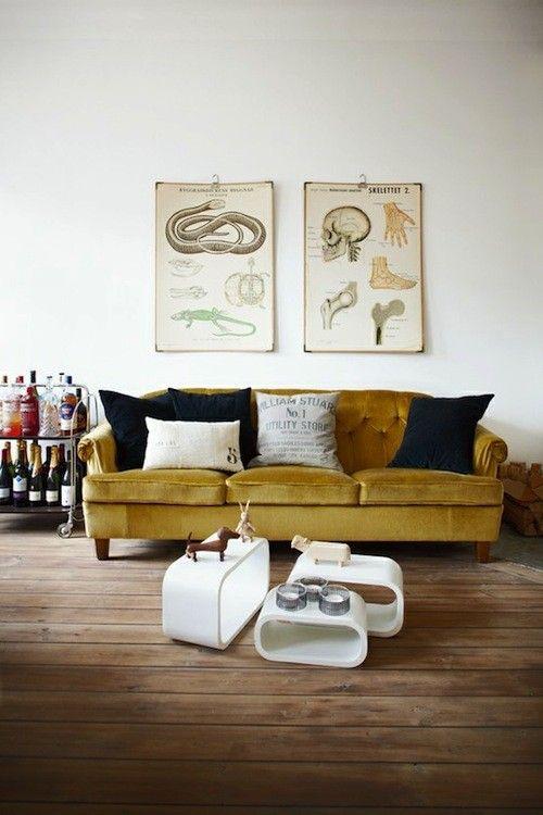 Épinglé par Delphine Imbert sur Salon Pinterest Canapé jaune