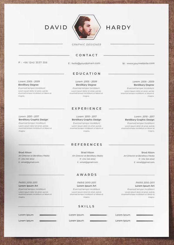 Resume Template InDesign INDD