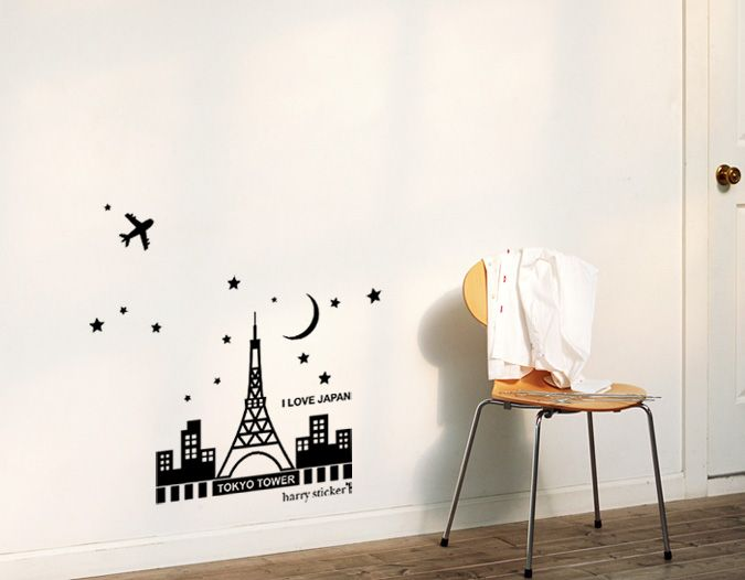 Wallsticker Tokyo Tower 4 Wallpaper Interior Design インテリア