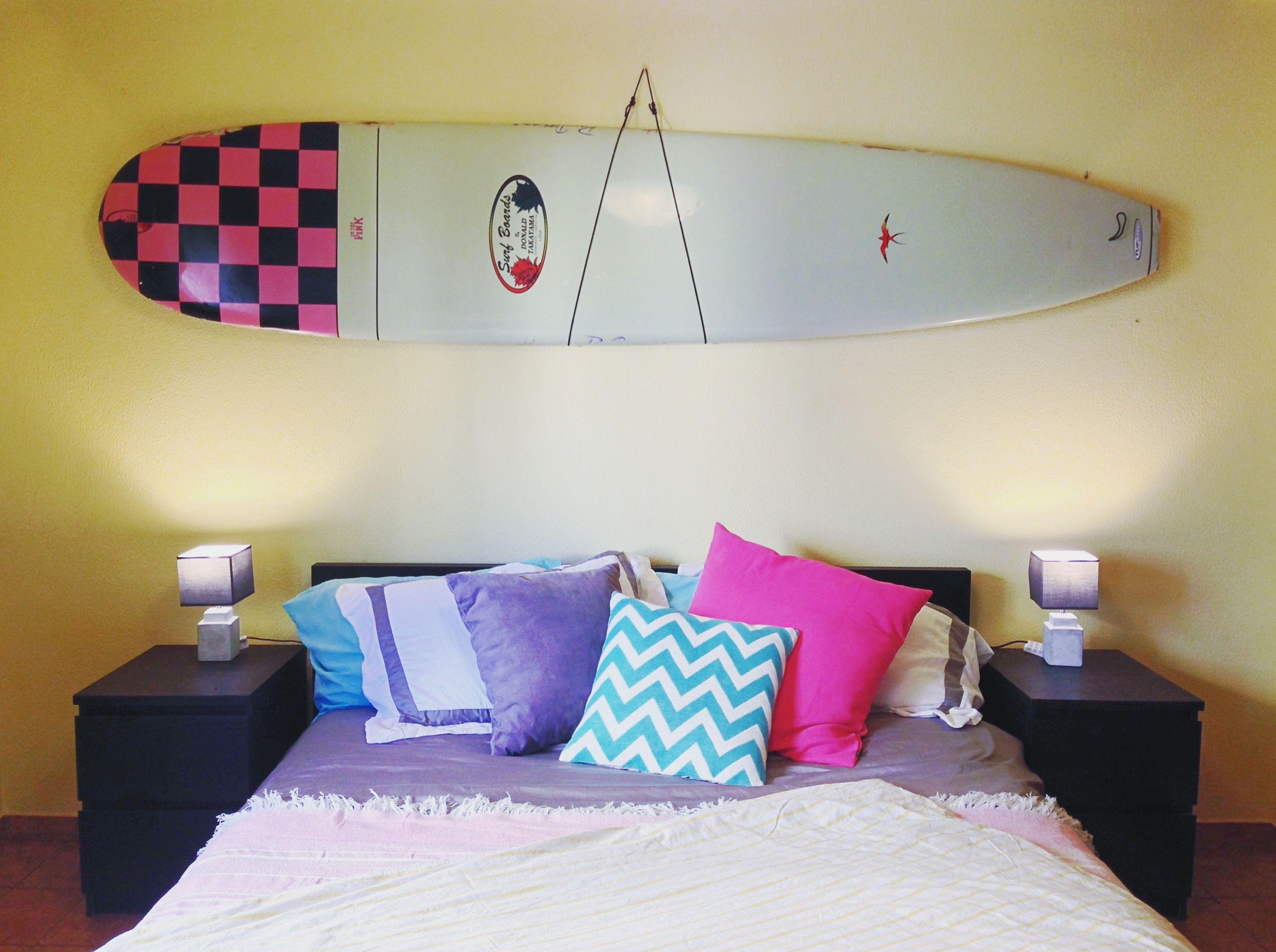 Takayama #InThePink #Surfboard #Bedroom #Pink #Turquoise #Yellow ...