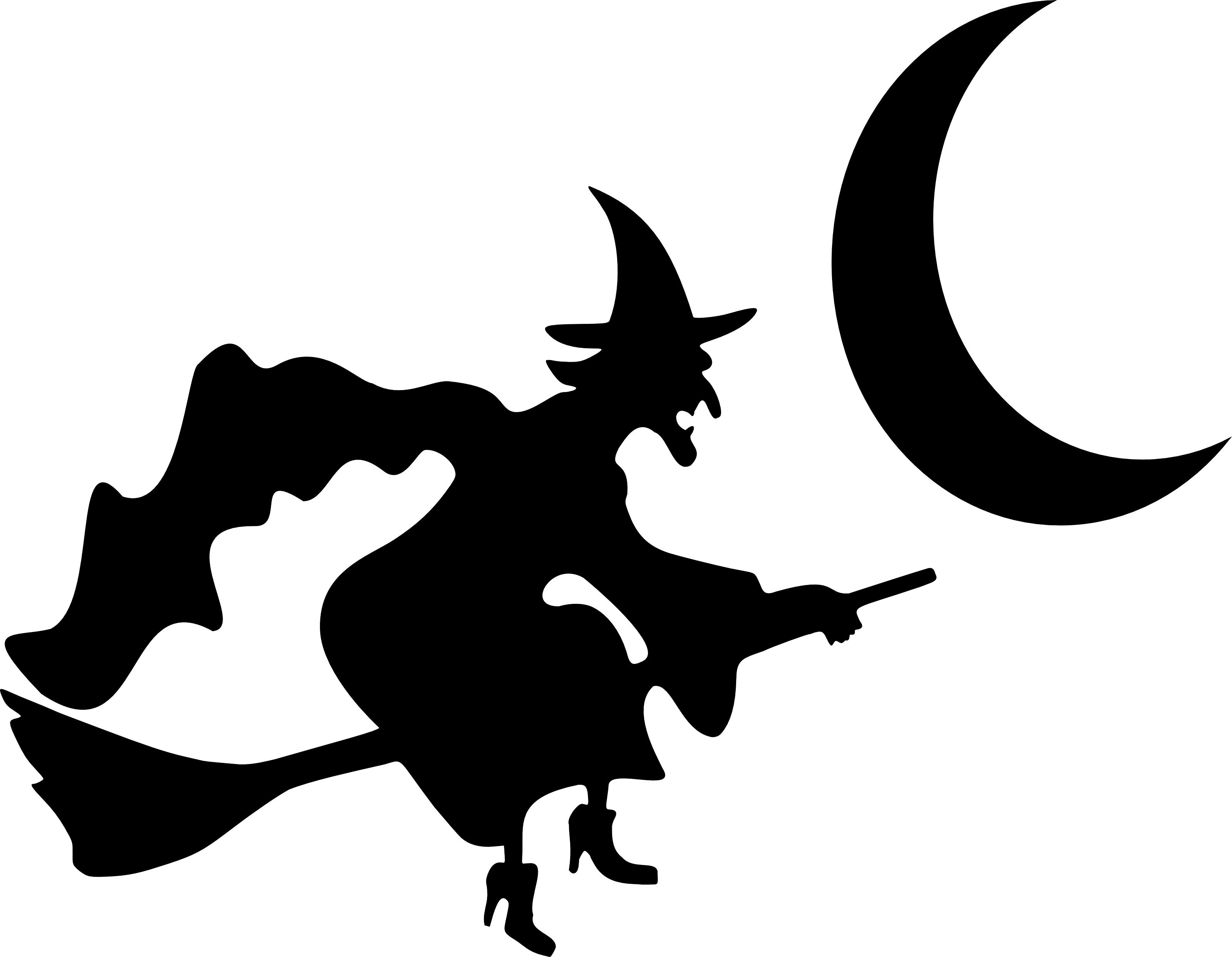 furniture stunning witch flying crescent moon silhouette halloween rh pinterest com halloween vector patterns halloween vector images