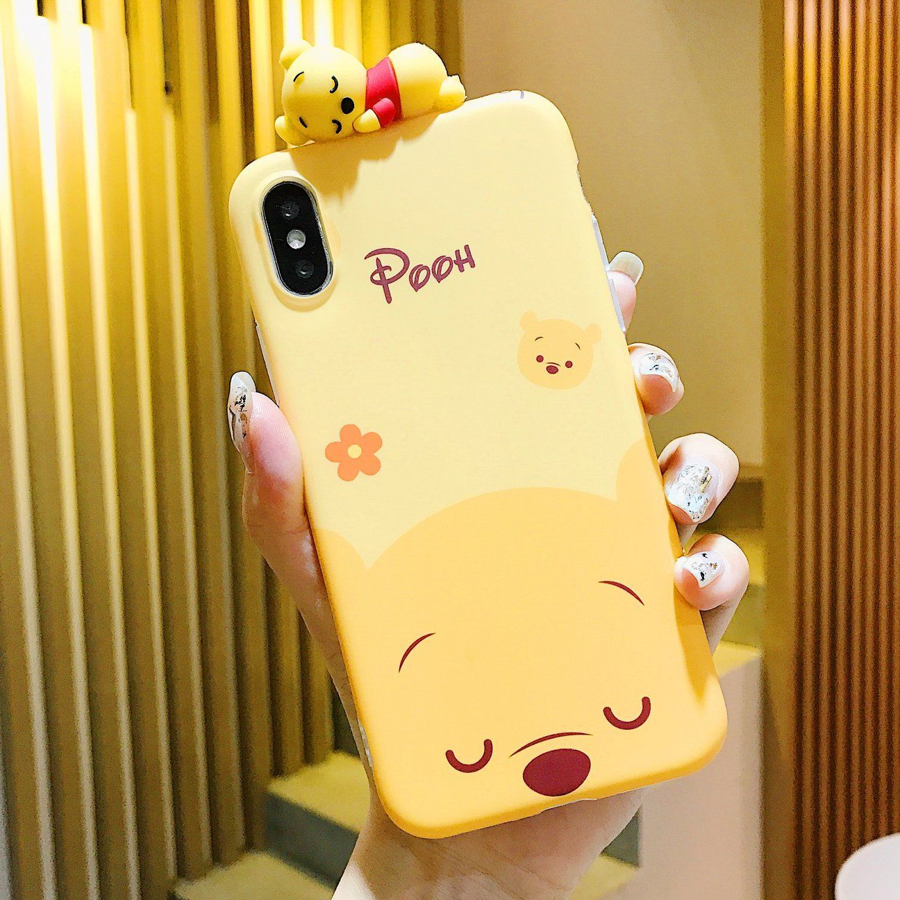 Kawaii winnie and tiger phone case for iphone 66s6plus7