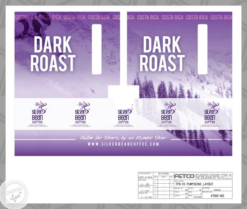 Silver Bean Coffee -- Dapper Fox Design   Packaging Design, design inspiration, coffee label