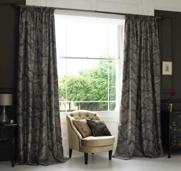 vorhang doubleface grau-weiß | vorhänge | pinterest - Vorhange Wohnzimmer Grau