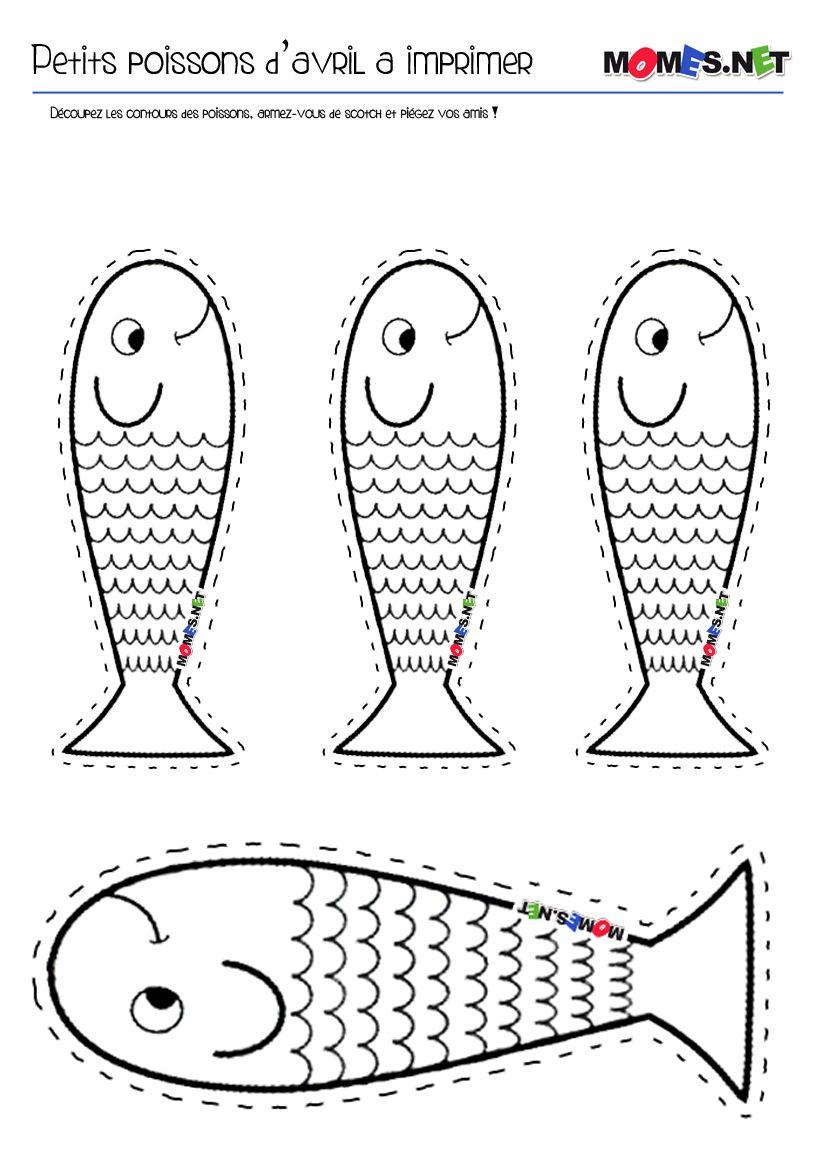 Petit poisson d 39 avril imprimer coloration ps et for Puzzle a colorier gratuit