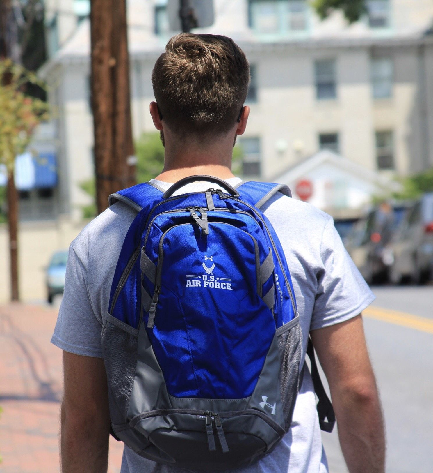 The Air Force Under Armour Storm Hustle III Backpack in