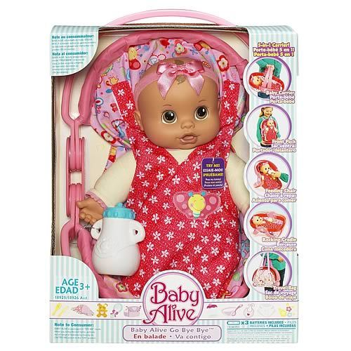 Baby Alive Go Bye Bye Don T Want Doll Need The Carrier Interactive Baby Dolls Baby Doll Nursery Baby Girl Toys