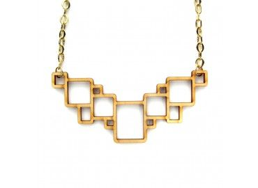 Large Birch Squares Necklace | @Brika Lyga Longo | $46.00