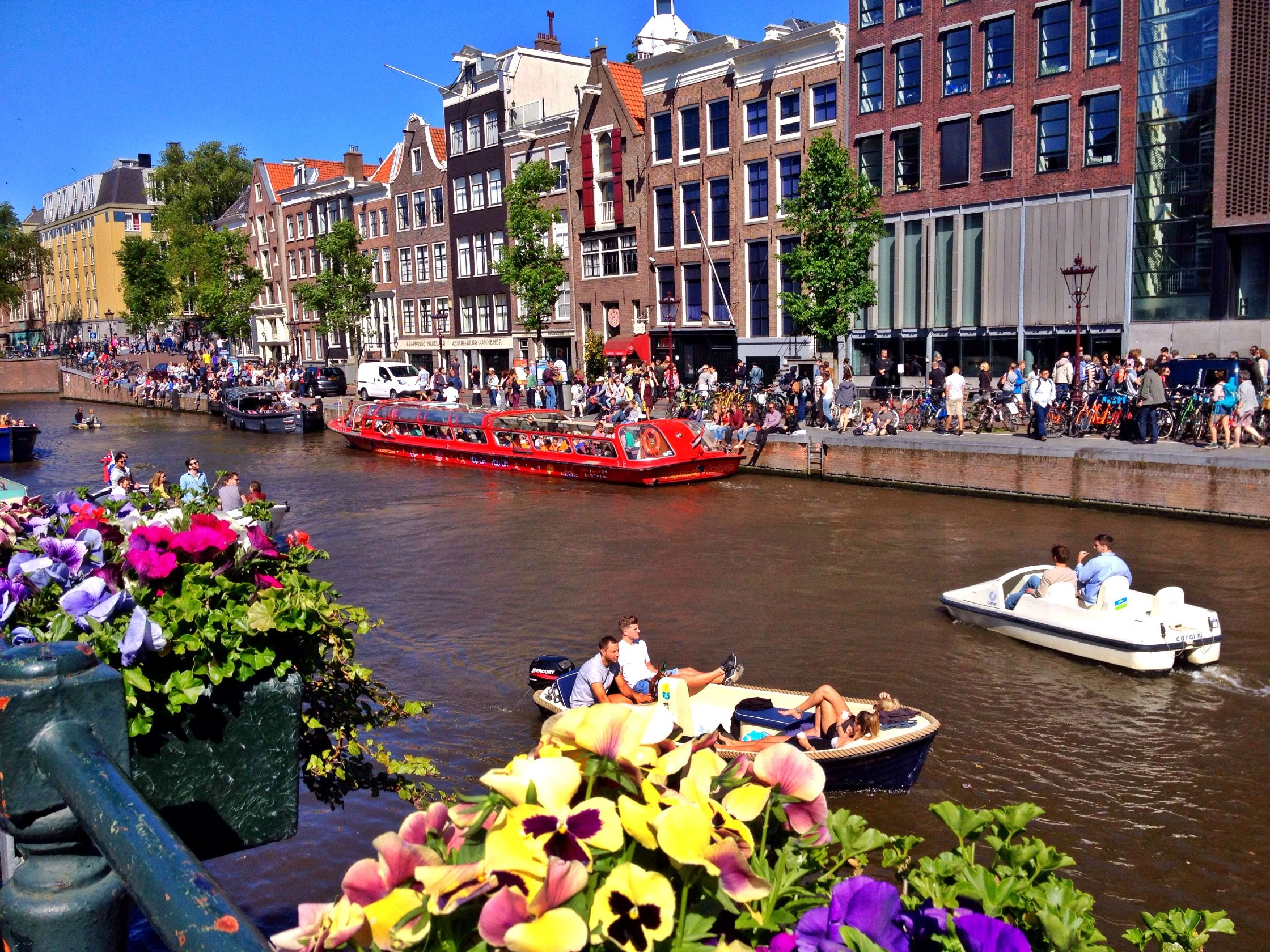 Amsterdam canals on a spring day... #canals #amsterdam #clickedbyRC