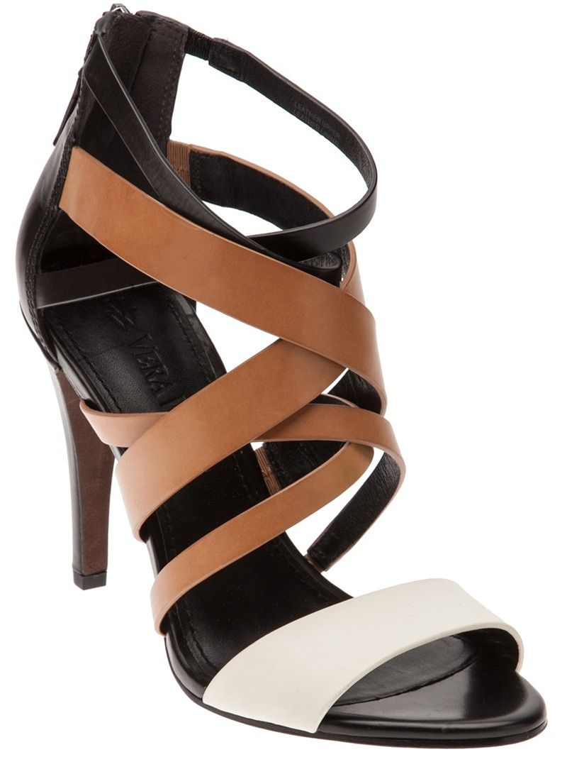 No need to worry about whether to wear black or brown with these @verawang sandals! Great sandal for the summer @Elaine Bentzen