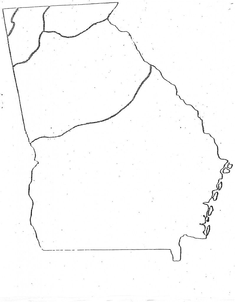 Outline Map Of Georgia With Outline Map Of Georgia Georgia Map Georgia Regions Map