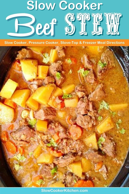 Budget Friendly Beef Stew Recipe In Crockpot Slowcookerkitchen Com In 2020 Slow Cooker Recipes Beef Beef Stew Recipe Slow Cooker Beef