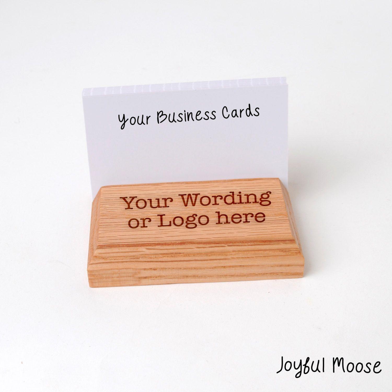Wood business card holder custom engraved business card display wood business card holder custom engraved business card display magicingreecefo Images