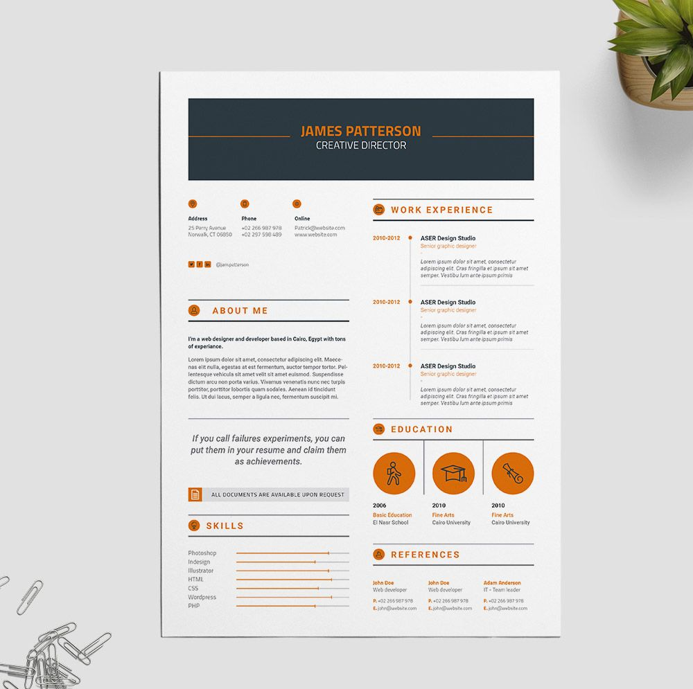 Resume Design Inspiration 30 Beautifully Designed Resume Examples For Your Inspiration