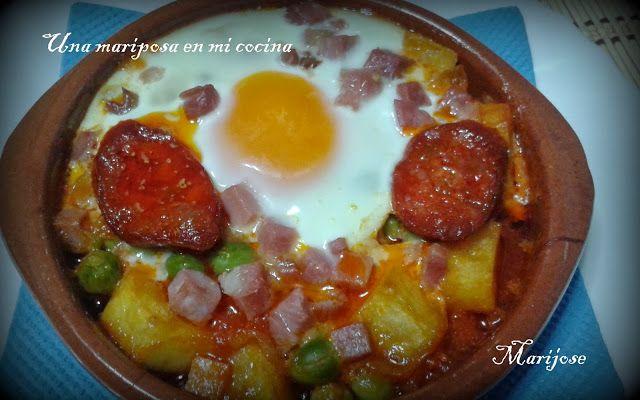 Una Mariposa En Mi Cocina Huevos A La Flamenca Recetas Para Cocinar Comida Cocina Española