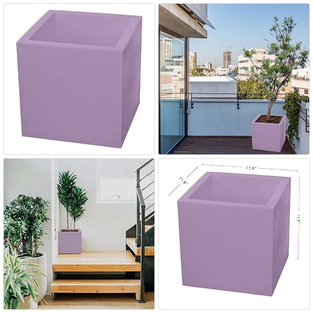 Details About Almi Cube Planter Box 12 Inch Plastic Square Planter