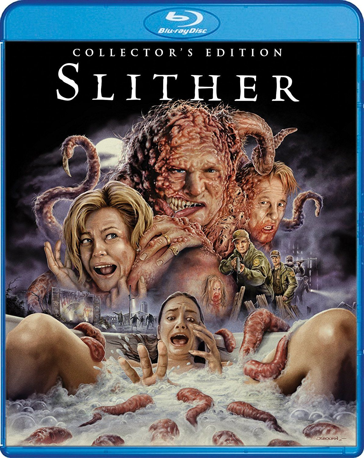 Slither Collector S Edition 2006 Blu Ray Horror Movie Posters Horror Fans Horror Movie Art