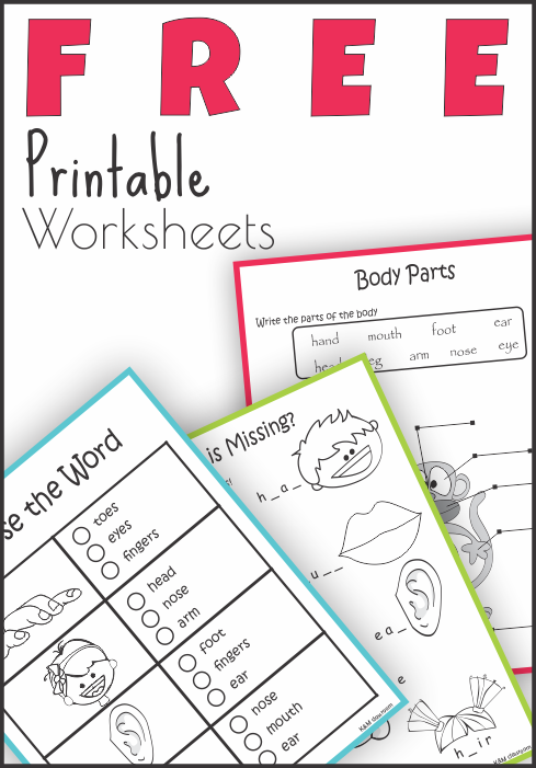 FREE Body Parts Read and Write Worksheets | TpT FREE LESSONS ...