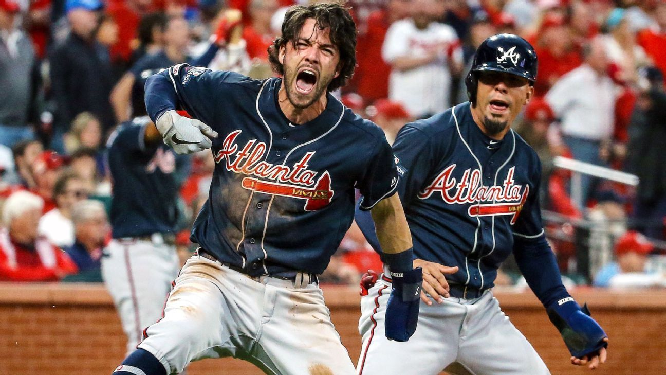 Braves Rally In Ninth Shows Their Playoff Run Could Have Legs Atlanta Braves Mlb Postseason Braves