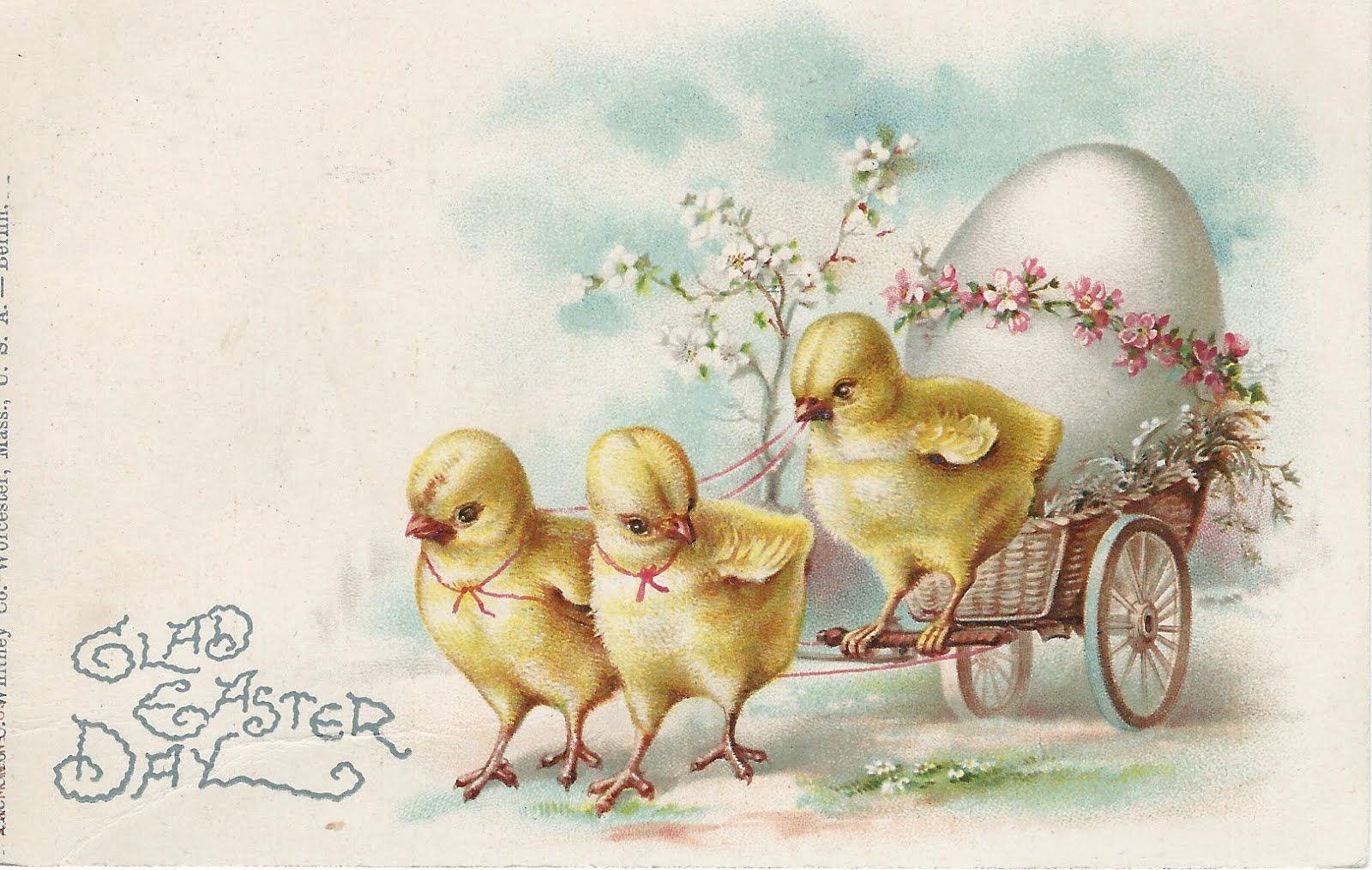 Марта женщине, пасхальная открытка цыпленок
