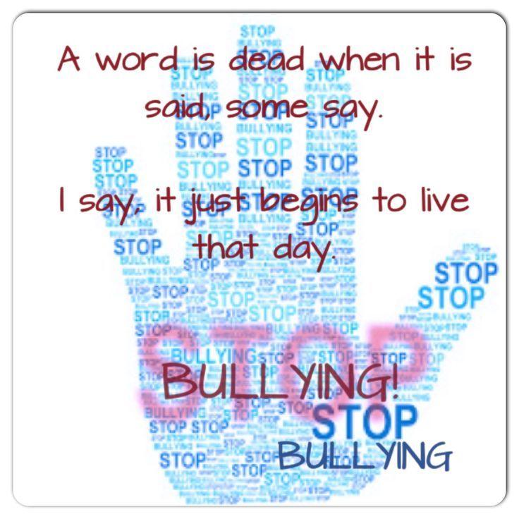 Say No To Bullying Bullying Quotes Stop Bullying Stop Bullying Quotes