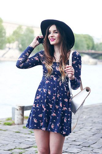 Urban Outfitters Floral Dress Seventies Style Outfit by What Olivia Did, via Flickr