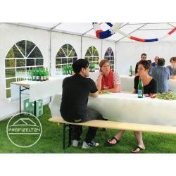 Photo of 4×6 m Partyzelt, aereo in PVC 500 g / m², mit Bodenrahmen, feuersicher weiß Gartenzelt, Festzelt, Pavillo