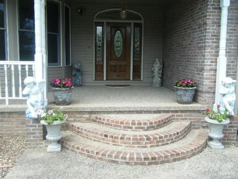 Front Porch Rounded Half Moon Steps Google Search