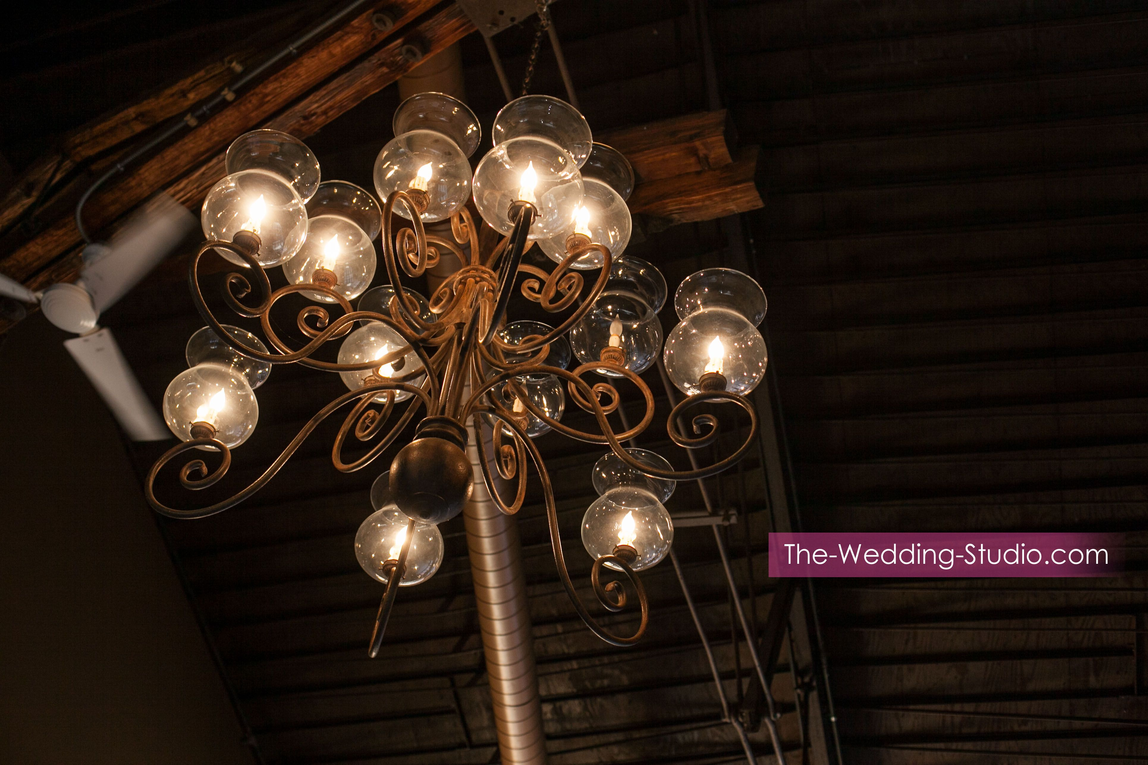 Indoor lighting at Two Brothers Roundhouse in Aurora