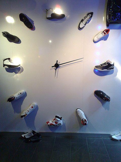 5c8206c5ce77 Fancy - Classic Clock- Classic Jordans 1-12 Wall Clock Coming Soon To My  Living Room