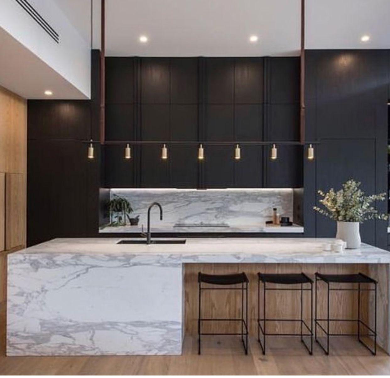 Pin By Olan Gil Batista On Small Kitchens Minimalist Kitchen Design Modern Kitchen Interiors Modern Kitchen Design