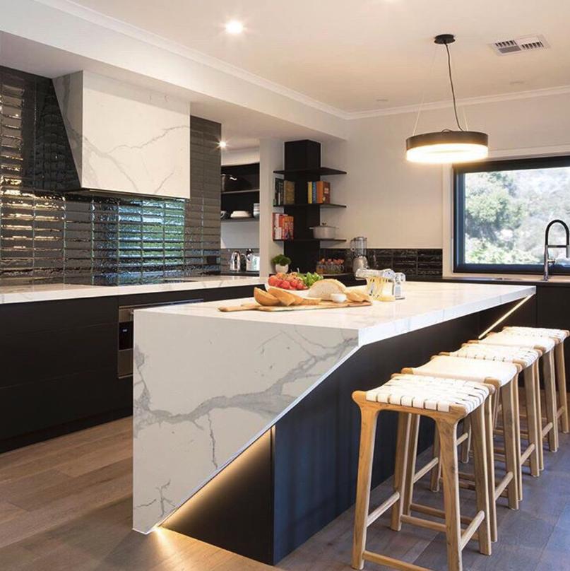 Calaccata white marble interior kitchen cabinets countertops design also pinterest rh