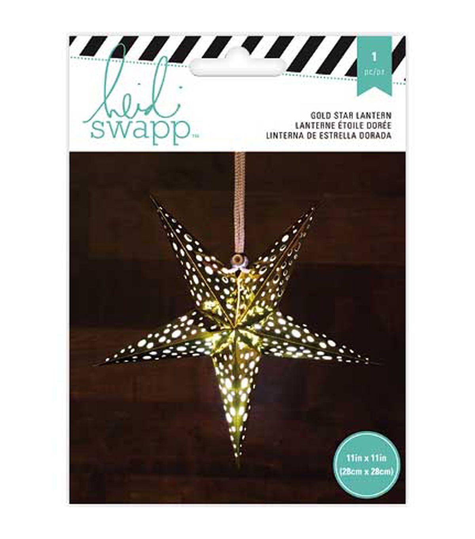"Heidi Swapp 5Point Star Paper Lantern 11""Gold Foil"
