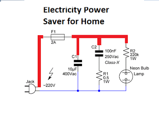 Electricity Power Saver for Home Application | Circuit diagram