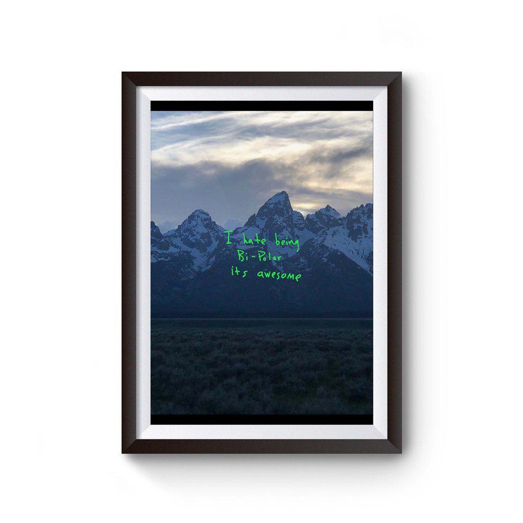 Kanye West Ye Music Album Poster Kanye West Albums Music Albums Kanye West