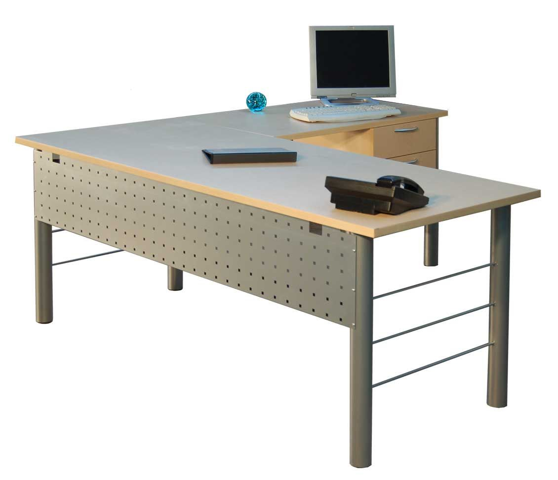 Simple Steel L Shaped Gray Office Table Desks Furniture Design Ideas For Home With Wood M L Shaped Office Desk Modern Home Office Furniture Office Table Design
