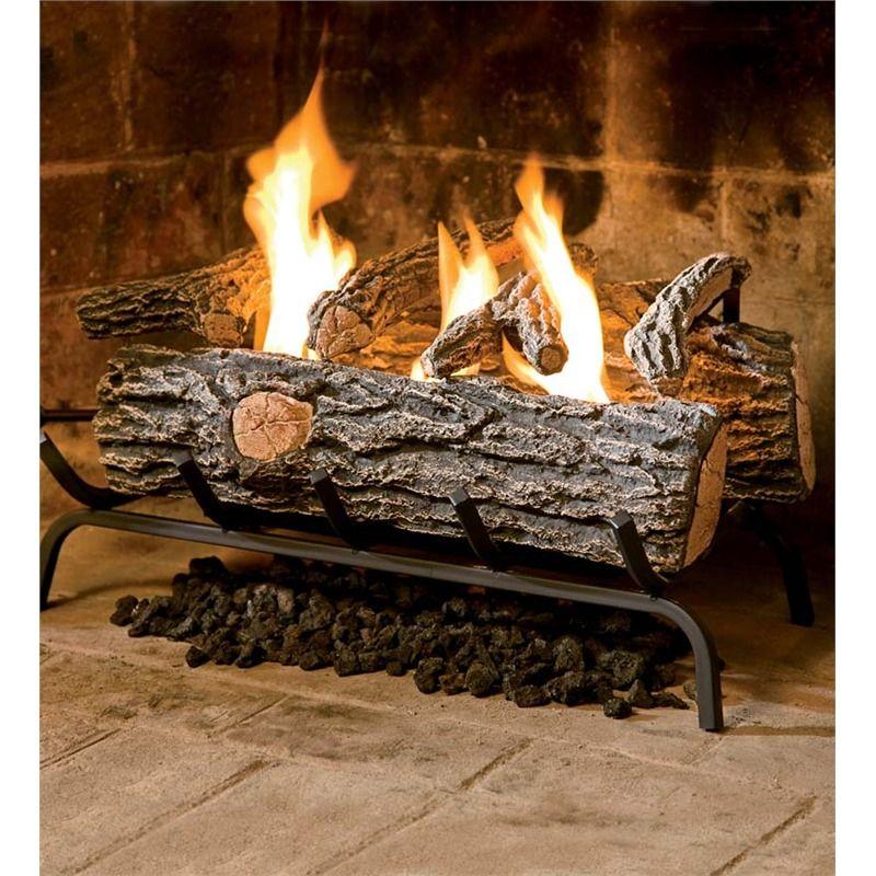 Large Ceramic Logs Gel Fuel Ethanol Plow Hearth