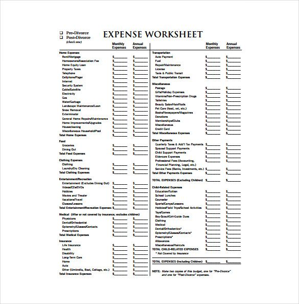 Expense Sheet Template - 15+ Free Word, Excel, PDF Documents - expense sheets template