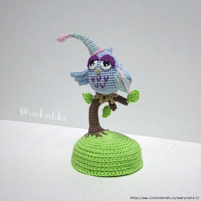 вязаная сова на дереве | Amigurumi/Амигуруми/Toys/Игрушки | Pinterest