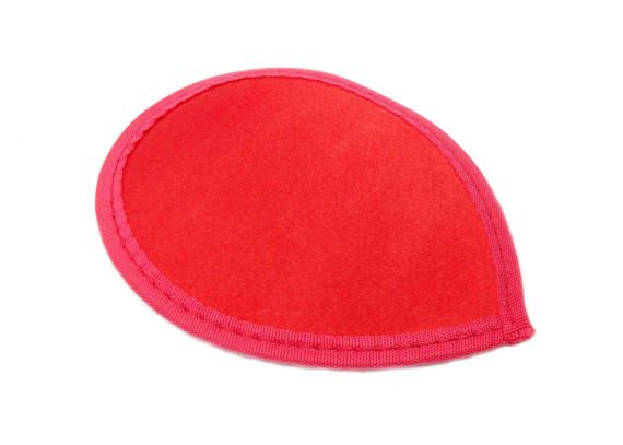 Red Satin Teardrop Fascinator Hat Base with Hairclips - Available in 12 Colors