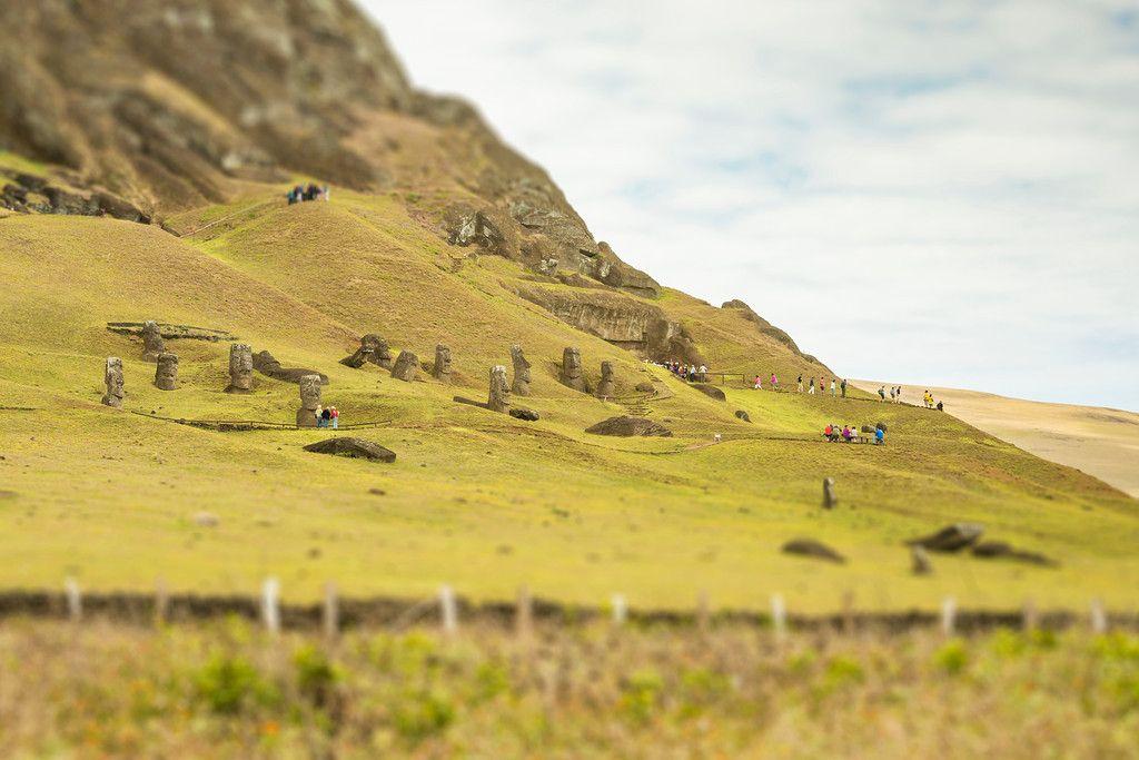 Tiltshift EasterIsland moai
