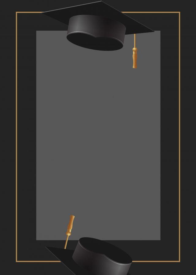 Photo of Black Gold Graduation Cap Graduation Background