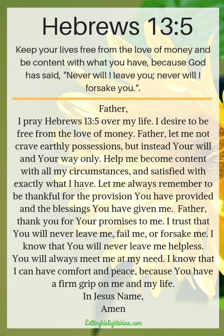 Hebrews 13:5
