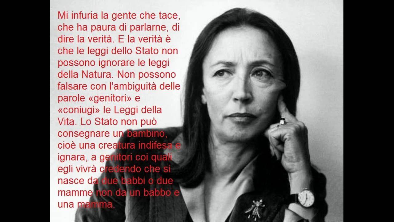 Oriana Fallaci, sulle adozioni gay - LGBT adoption (manortiz